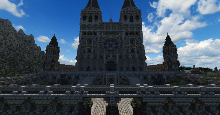 Cathedral of Keddis minecraft castle wall lake mountain download building ideas cementery medieval 5