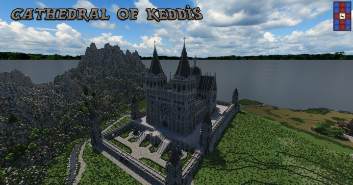 Cathedral of Keddis minecraft castle wall lake mountain download building ideas cementery medieval