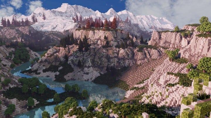 Custom Biome terrain map 4kx4k world painter world machine download minecraft 5