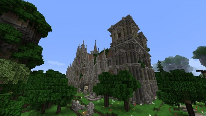 Excelsior Cathedral download foggy church castle minecraft build ideas 3