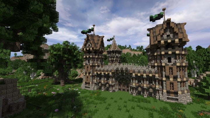 Medieval Fort Build your own Fort minecraft castle finish building ideas interior exterior