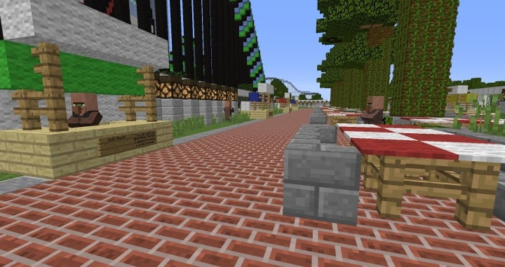 MinePark A Minecraft Theme Park building ideas fun download cool world 12