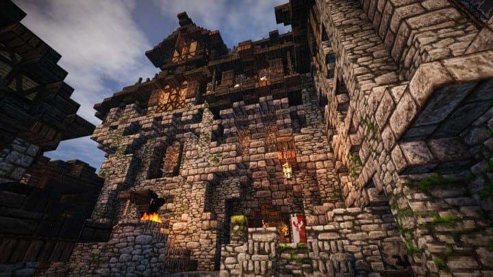 Stadtfelsen a medieval castle minecraft building ideas download mountains 01
