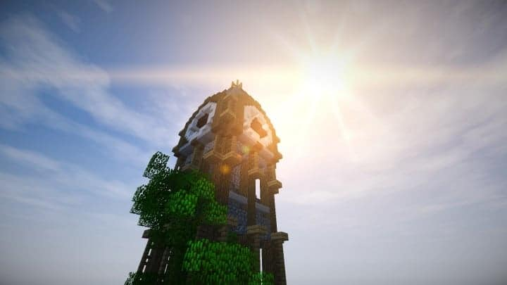 prof_artifex tower of time minecraft building ideas clock floating download 4
