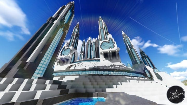 Futuristic Palace V2 minecraft building ideas download sea water tower amazing 7