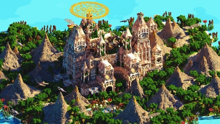 Tarsia The Immortal Palace minecraft building ideas download save castle tower future 4