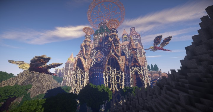 Tarsia The Immortal Palace minecraft building ideas download save castle tower future 7