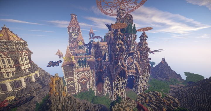 Tarsia The Immortal Palace minecraft building ideas download save castle tower future 8