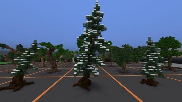 Tree bundle Download 56 trees total mincraft building ideas decor nature woods 7