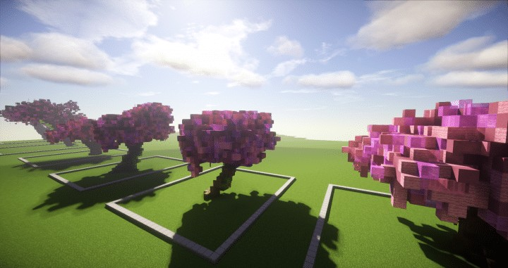 Cherry Trees Bundle 9 Cherry Trees total download save schematic amazing pink colorful pack Minecraft Building Landscape 6