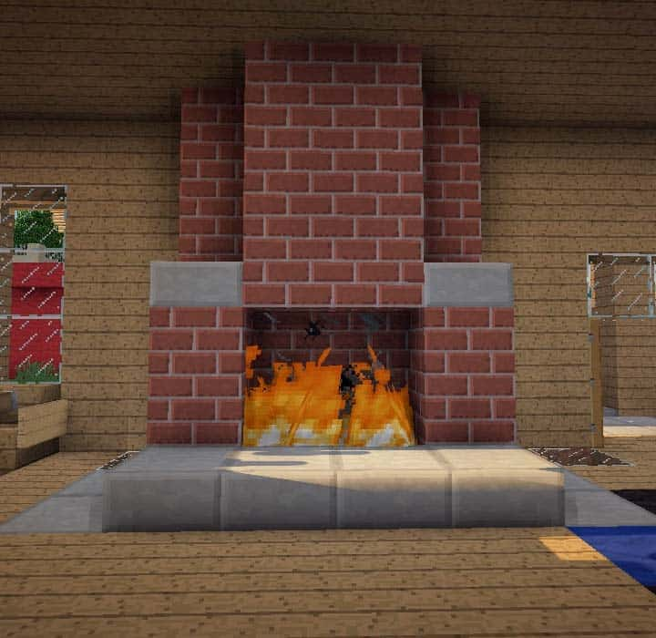 brick fireplace minecraft building ideas interior home warmth basic old style more depth