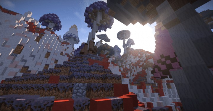 130 REALISTIC MUSHROOMS Schematics Minecraft amazing download ton lots screenshots 7