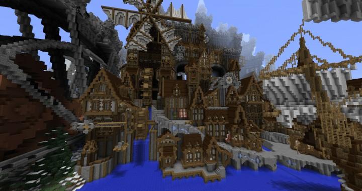 Conderial  Steampunk City Amazing Minecraft building ideas download save old worldpainter worldedit 5
