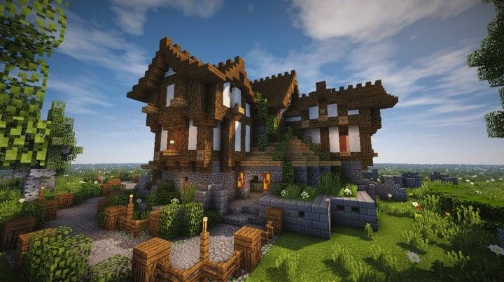 Boitameu Minecraft Timelapse Cozy little Medieval House Timelapse Download amazing default texture pack 4