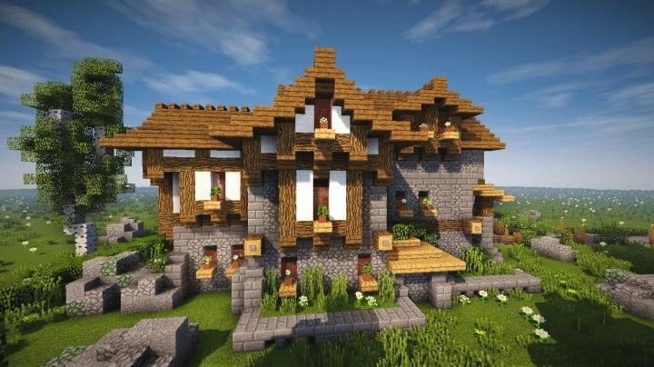 Boitameu Minecraft Timelapse Cozy little Medieval House Timelapse Download amazing default texture pack 6