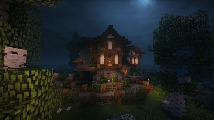 Boitameu Minecraft Timelapse Cozy little Medieval House Timelapse Download amazing default texture pack 9