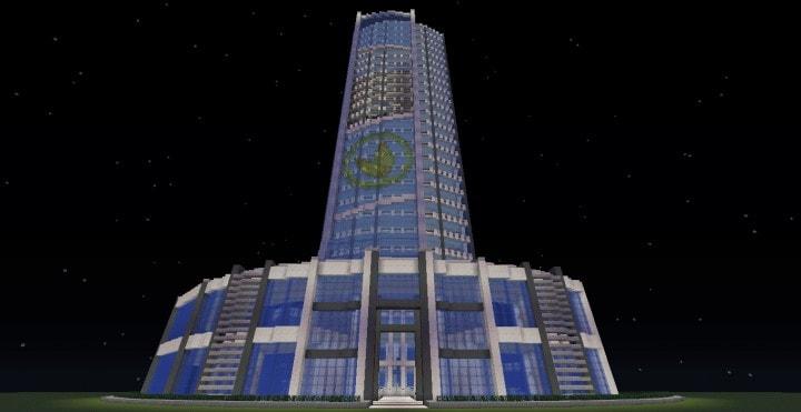 Quartz Tower 6 Minecraft Building ideas download city amazing tower skyscraper save 3