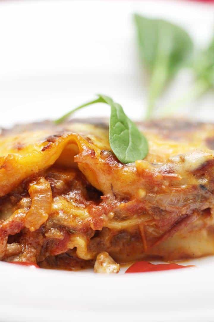 mince lasagna