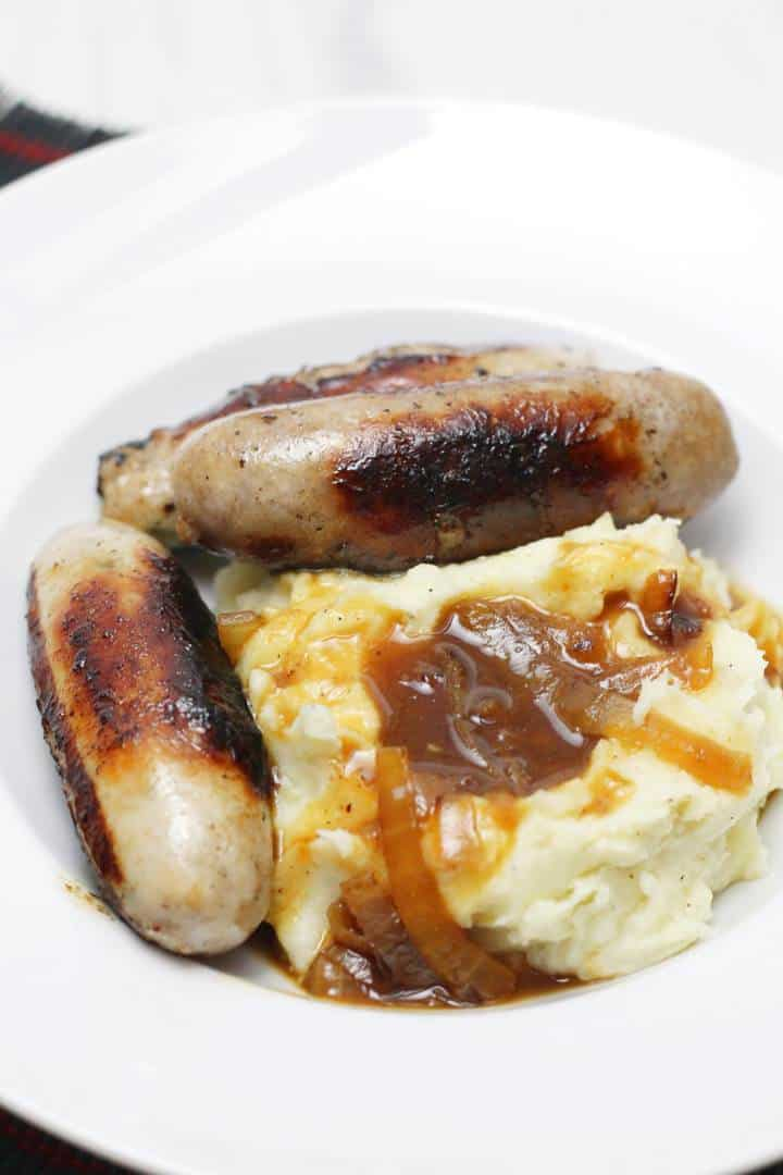 sausage and mash and gravy