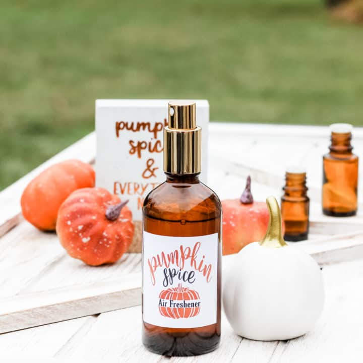 DIY Pumpkin Spice Essential Oil Room Spray