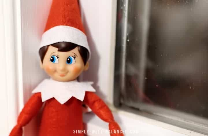Scout elf on the shelf hiding