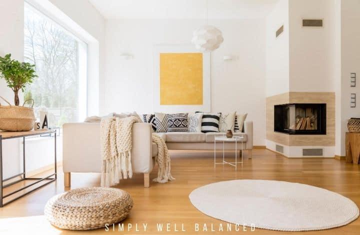 A modern family friendly living room