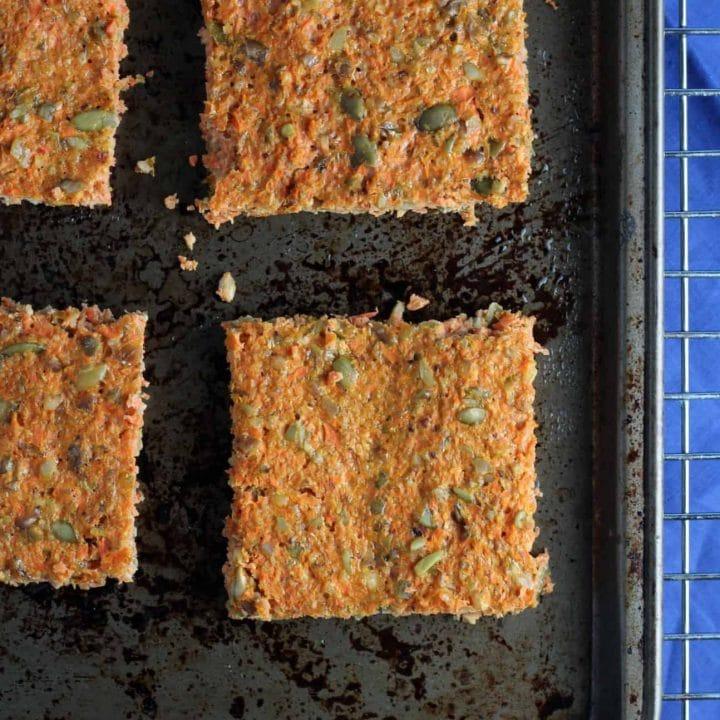 Grain-free Nutty Carrot Flatbread