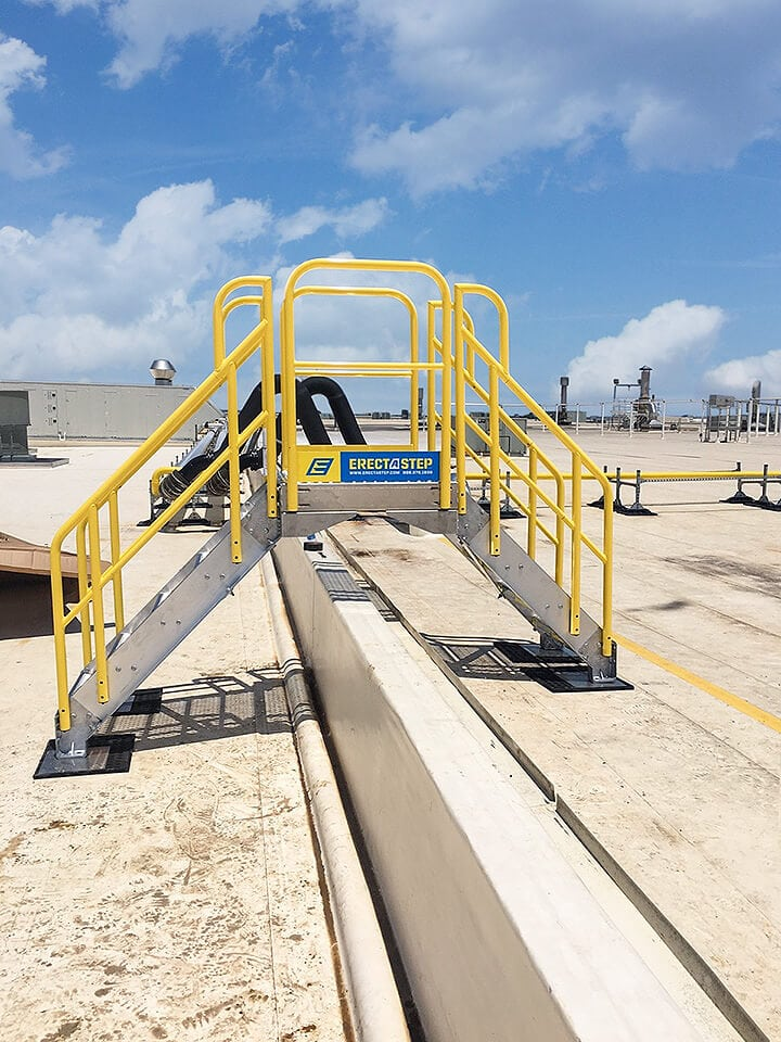 Rooftop Access - 5 Step Metal Stair Crossover