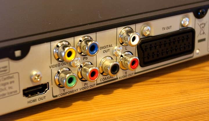 conexiones de audio y video