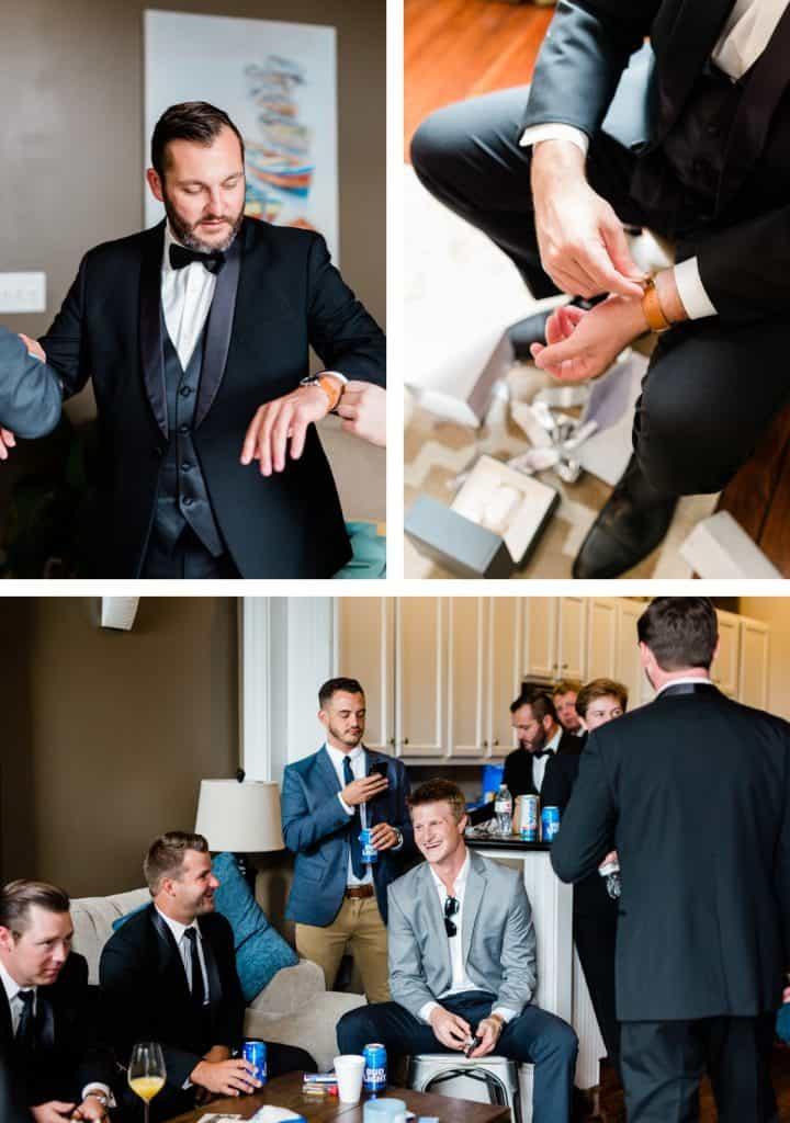 Forest Park Golf Course Wedding Photos, Groom Getting Ready