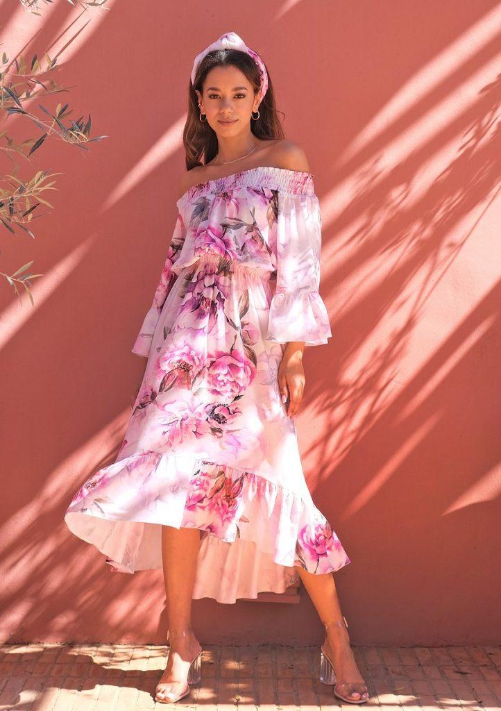 Sukienka na wesele midi Peony Bloom