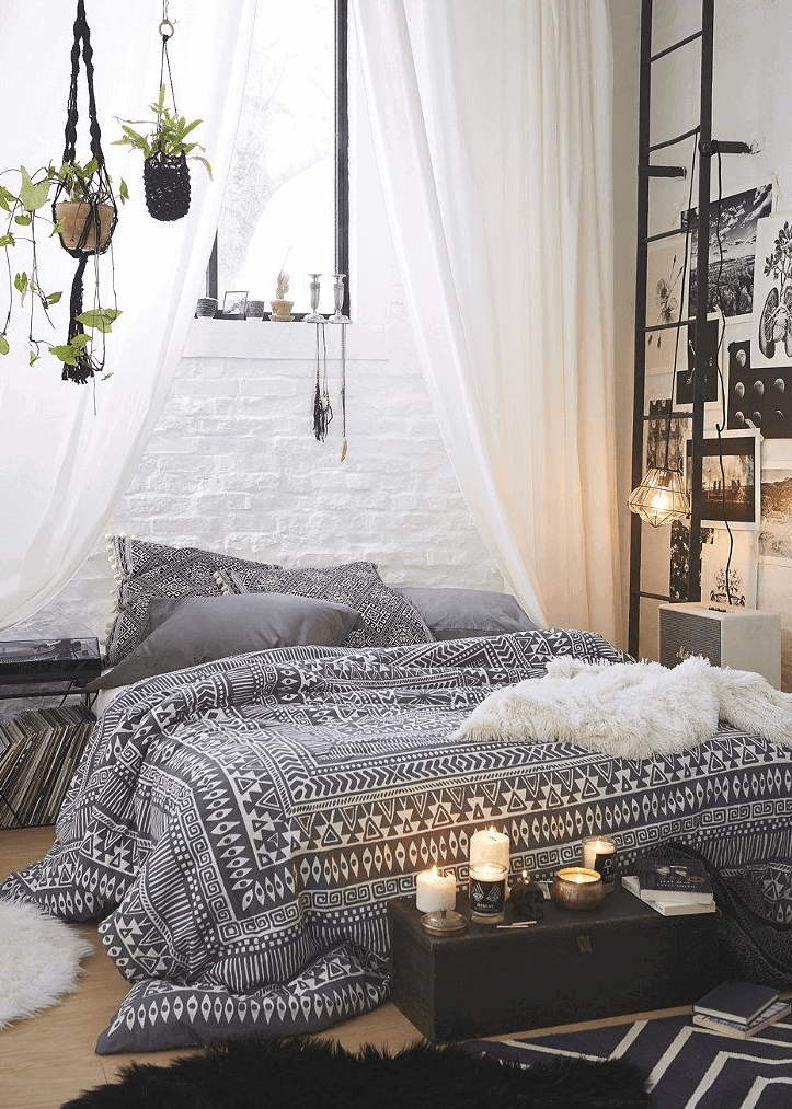 Modern bohemian bedroom decor interiors
