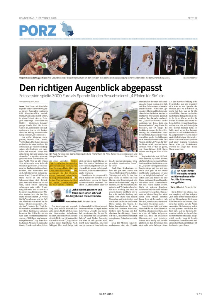 Die Windhundgang in der Presse