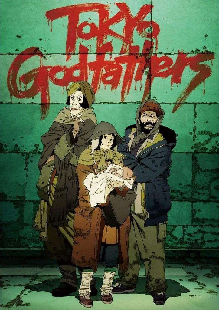 portada de Tokyo Godfathers, Satoshi Kon