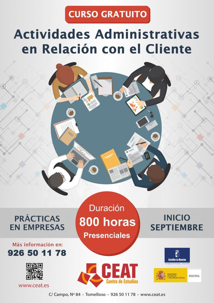 Actividades Administrativas en Relación con el Cliente. Septiembre 2018