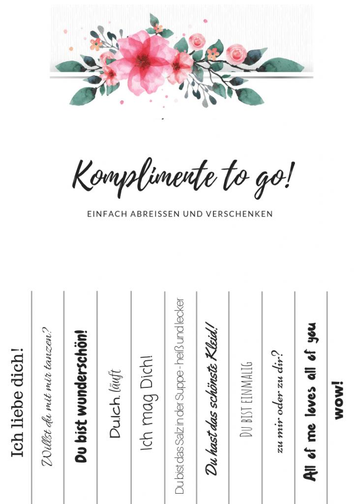 Komplimente to go! Hochzeit blumen