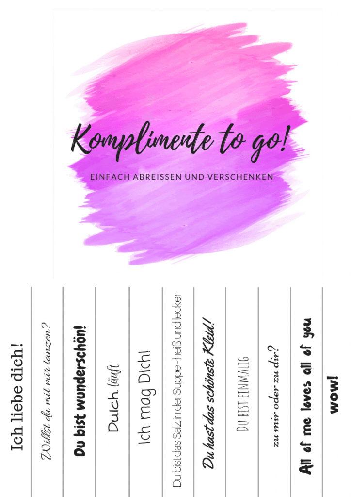komplimente to go pink
