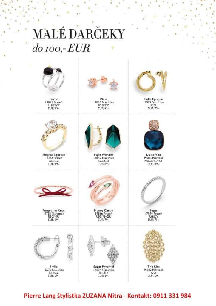 darček do 100 € šperky Pierre Lang Zuzana Nitra