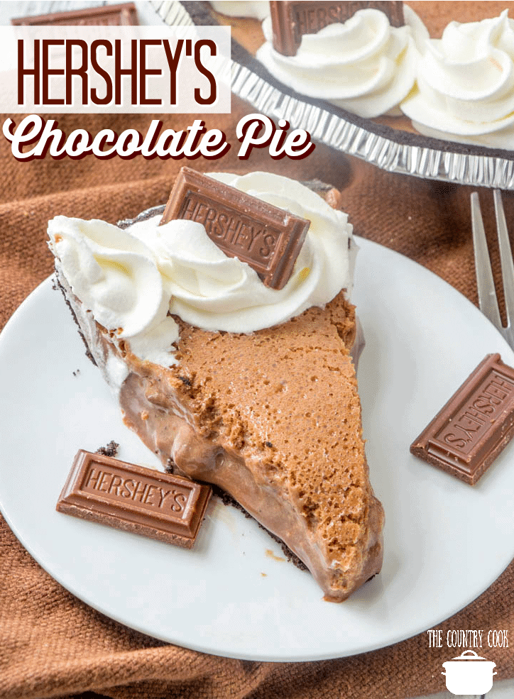 Hershey's Chocolate Pie recipe from The Country Cook