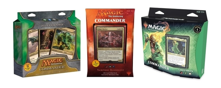 All Commander Precons Series Preconstructed Decks List Banner