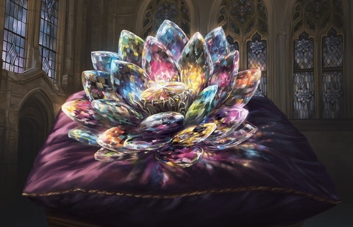 Jeweled Lotus Commander Staples Banner