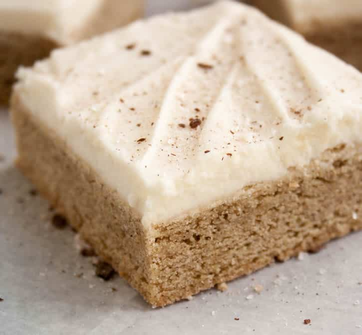 Vanilla Chai Sugar Cookie Bars. The sugar cookie bar you love made with vanilla chai tea and warm spices.