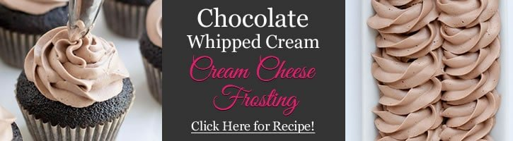 Chocolate Whipped Cream Creamcheese Frosting Banner
