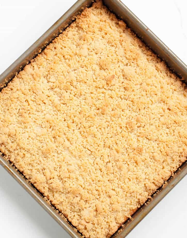 Lemon Ricotta Crumb Cake. The perfect marriage of fresh citrus and rich ricotta cheese, topped with a buttery shortbread cookie crumb topping!