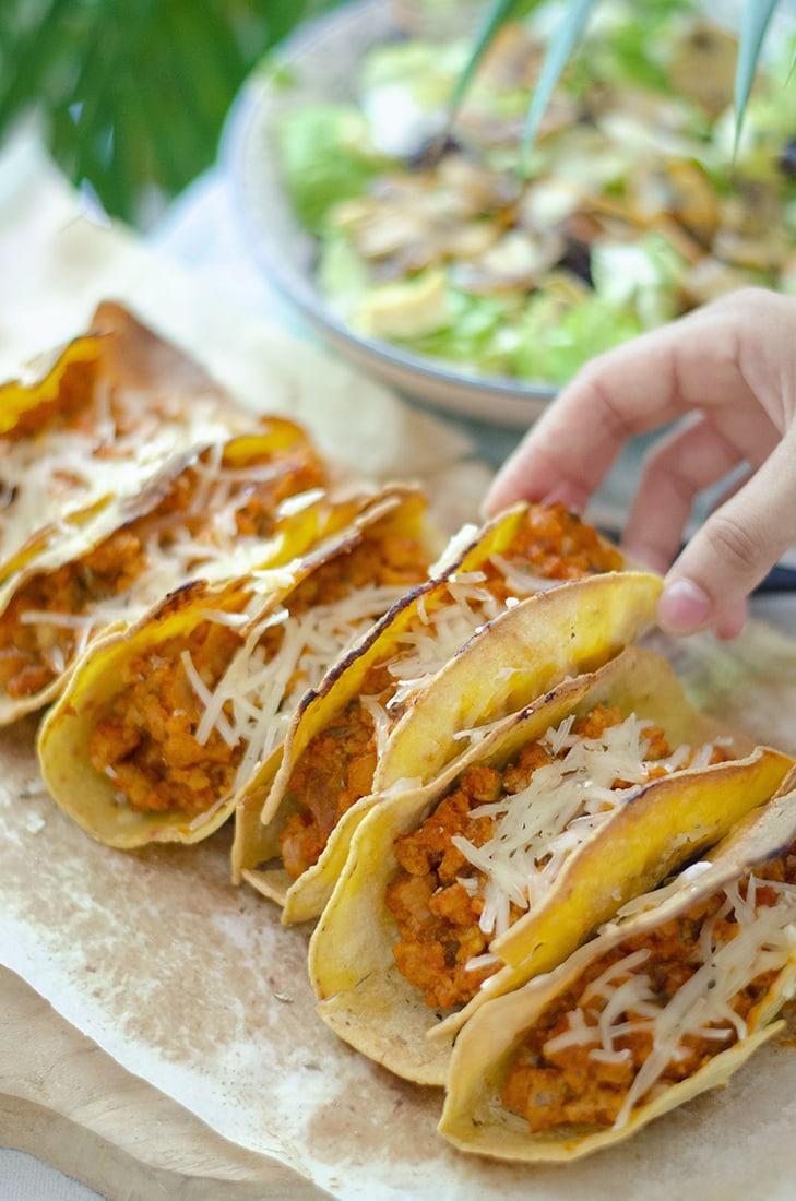 tacos vegetarianos sin carne soja texturizada recetas vegetarianas faciles
