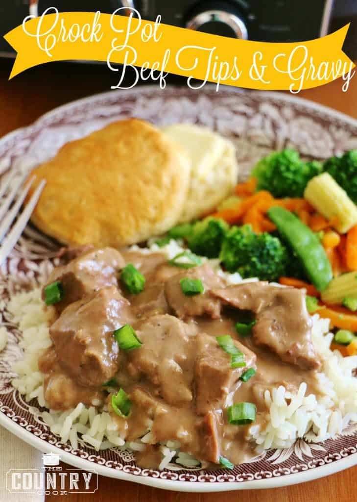 Crock Pot Beef Tips & Gravy