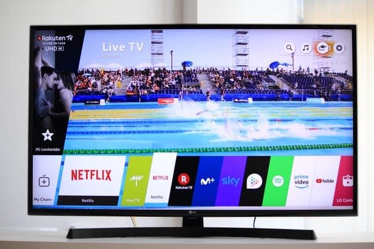 Menú Smart TV WebOS 4.0 LG UK6470