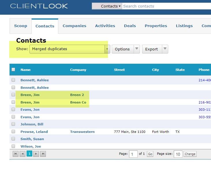 Merge Duplicate Records In ClientLook_9