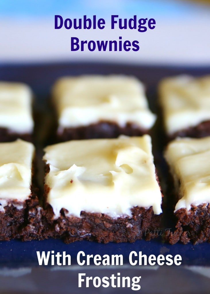 Double Fudge Brownies with Cream Cheese Frosting