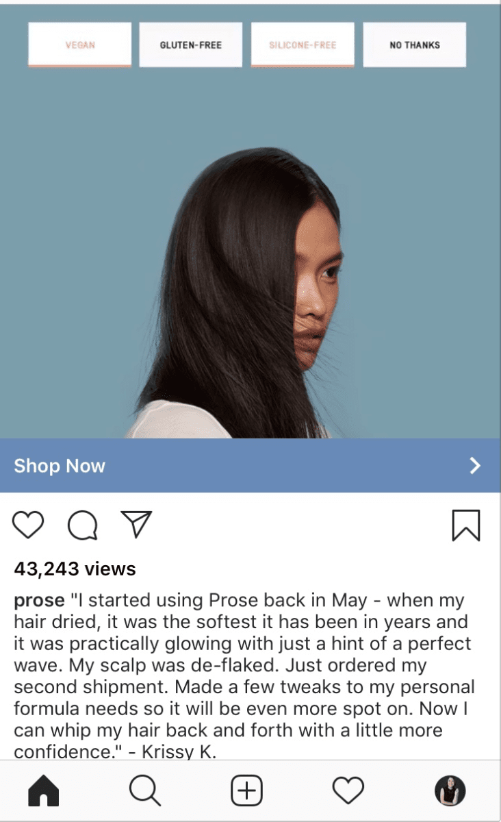 Instagram ad call to actions